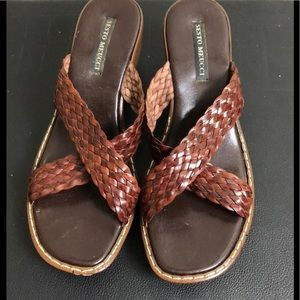 Shoes braided leather sandals 8.5